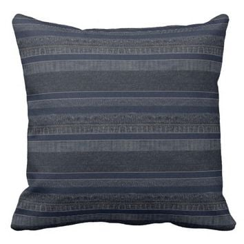 """Faux Denim"" THROW PILLOW"
