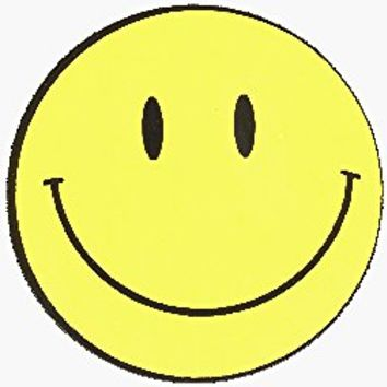 "Classic Happy Face / Smiley Face 3"" Round Sticker / Decal"