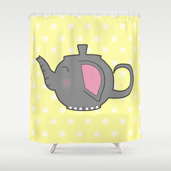 Elephant Teapot Shower Curtain by KJ53321 | Society6