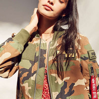 Alpha Industries L-2B Patched Bomber Jacket | Urban Outfitters