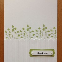 Thank You Card from Over the Fence