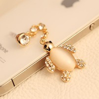 opal iphone mobile phone tortoise Dust plug