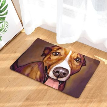 Oil-Painting Dog Print Non-Slip Mat (variety of breeds, 2 different sizes)
