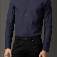 Cotton Point Collar Shirt