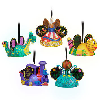 Disney Main Street Electrical Parade Light-Up Ear Hat Ornament Set | Disney Store