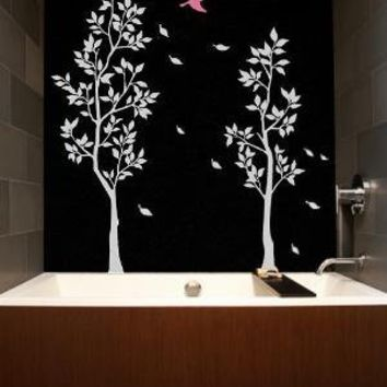 Vinyl Wall Sticker Decal Art  Trees with Falling Leaves by NouWall