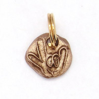 Sign Language-I Love You Talisman Charm-Versatile, Unique, Made to Order in Steel, Copper, Bronze-Free Shipping w/ Another Item-Party Favors