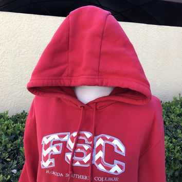 FLORIDA SOUTHERN COLLEGE JANSPORT Red Hoodie Size Medium