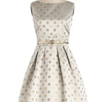 ModCloth Vintage Inspired Mid-length Sleeveless Fit & Flare Sparkle Your Interest Dress