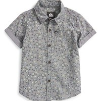 Boy's Quiksilver 'Micro Prints' Short Sleeve Chambray Woven Shirt,