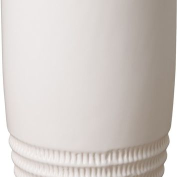 Tall Nantucket Vase With A White Glaze