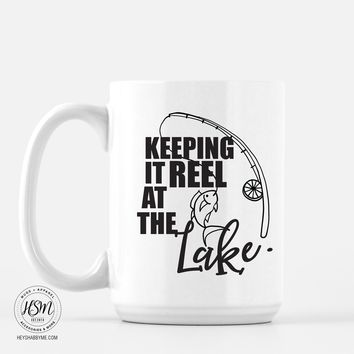 Reel at Lake - Mug