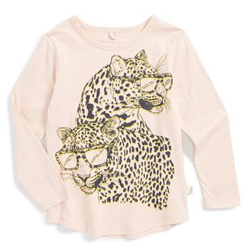 Toddler Girl's Stella McCartney Kids 'Barley' Leopard Graphic Tee, Size 2T - Pink