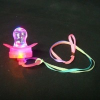 Qiyun LED Flashing Pacifier Binkie Raver Pendant Necklace