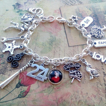 Stiles Stilinski 24 sharm bracelet, teen wolf jewelry