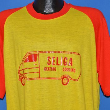 70s Seliga Heating And Cooling Work Thin t-shirt Extra Large
