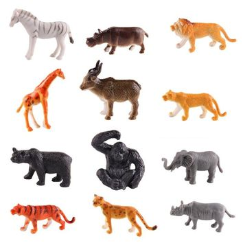 12Pcs/Set Animal Wildlife Toy