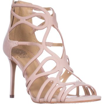 Vince Camuto Lorrana Peep Toe Heeled Sandals, Blush, 10 US / 40 EU