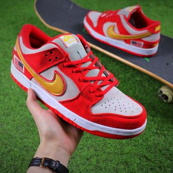 Nike SB Dunk Red White Shoes - Sale