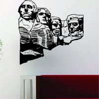 Mount Rushmore Decal Wall Vinyl Art Decor Room Design History School USA America Presidents