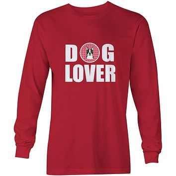 Boston Terrier Dog Lover Long Sleeve Red Unisex Tshirt Adult Small BB5273-LS-RED-S