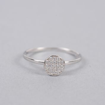 Armitage Avenue Round Pave Ring