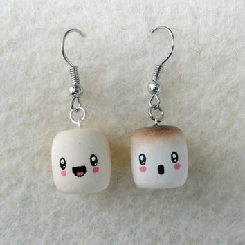 Cute Kawaii Marshmallow Earrings