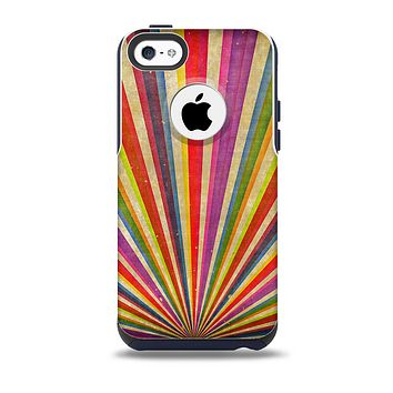 The Vintage Sprouting Ray of colors Skin for the iPhone 5c OtterBox Commuter Case
