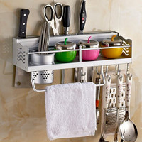 1PC Space Aluminium Kitchen Shelf, kitchen rack Cooking Utensil Tools Hook Rack kitchen Holder & Storage 40cm kitchen aid J2002