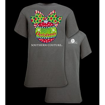 Southern Couture Preppy Christmas Ball Holiday T-Shirt