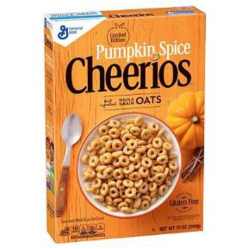 General Mills Pumpkin Spice Cheerios Cereal 12oz : Target