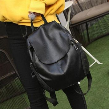 University College Backpack Summer New  Wind Schoolbag  Woman Leisure Travel Bag Leather s for Teenage Female Bagpack mochilaAT_63_4