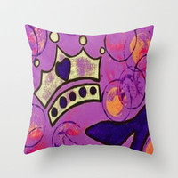Crown & Heel Throw Pillow by Michelle Silsbee