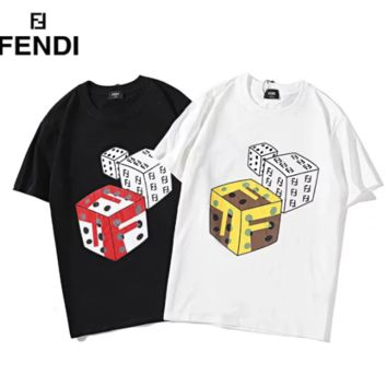 Fendi New fashion bust dice letter print couple top t-shirt