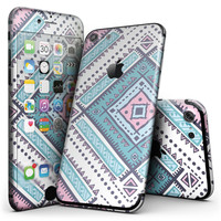 Tribal Vector Ethnic Pattern v3 - 4-Piece Skin Kit for the iPhone 7 or 7 Plus