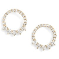 EF COLLECTION Floating Open Circle Stud Earrings   Nordstrom