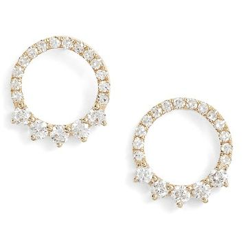 EF COLLECTION Floating Open Circle Stud Earrings | Nordstrom