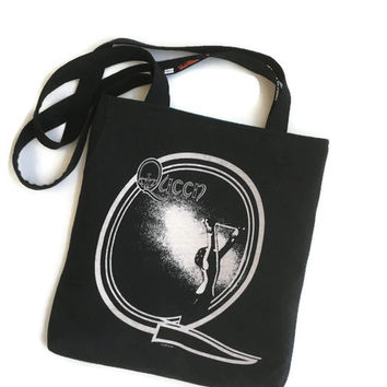 Queen Bag Upcycled T-shirt Tote Queen Band Bag