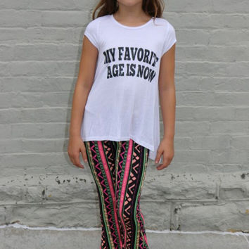pattern play flare pants