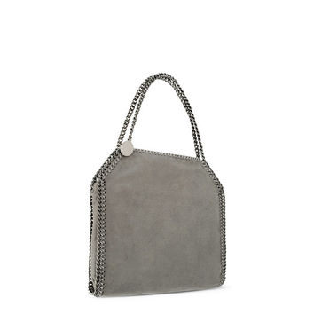 Light Grey Falabella Shaggy Deer Small Tote - Stella Mccartney