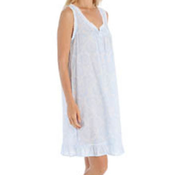 Miss Elaine 224715 Cotton Lawn Short Sleeveless Chemise