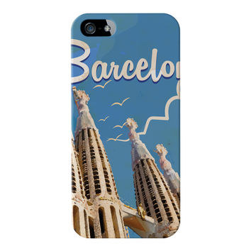 Barcelona Full Wrap High Quality 3D Printed Case for Apple iPhone 5 / 5s by Nick Greenaway