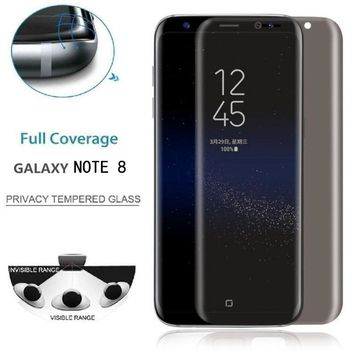 Privacy Tempered Glass Protector Full Coverage For Samsung Galaxy Note 8