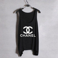 Classic Chanel - Women Tank Top - Black - Sides Straight