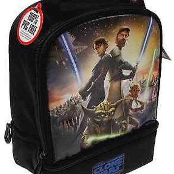Star Wars Clone Wars Thermos Insulated Lunch Bag Anakin Ahsoka Tano Obi Wan Yoda