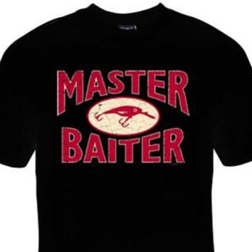 MASTER BAITER fishing/funny/humorous T-SHIRT black