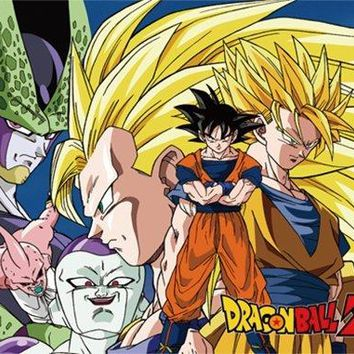 """Great Eastern Dragon Ball Z GE-57782 Justice VS Evil Sublimation Throw Blanket 46"""" x 60"""""""