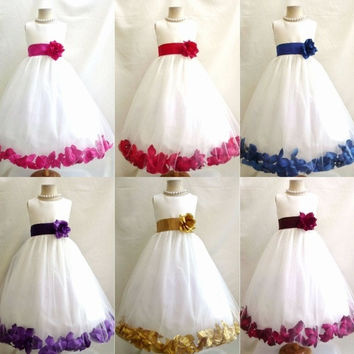 Girl's Fashion Bridesmaid Ball Gown Sleeveless Flower Girl Dresses Formal Wedding Party Dress For Little Girls Kids Children Dress With Bow = 1932836100