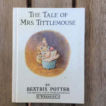 The Tale of Mrs. Tittlemouse - Vintage Beatrix Potter Children's Book, 1987