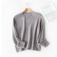 Korean Knit Tops Autumn Pullover Round-neck Sweater [9022836999]